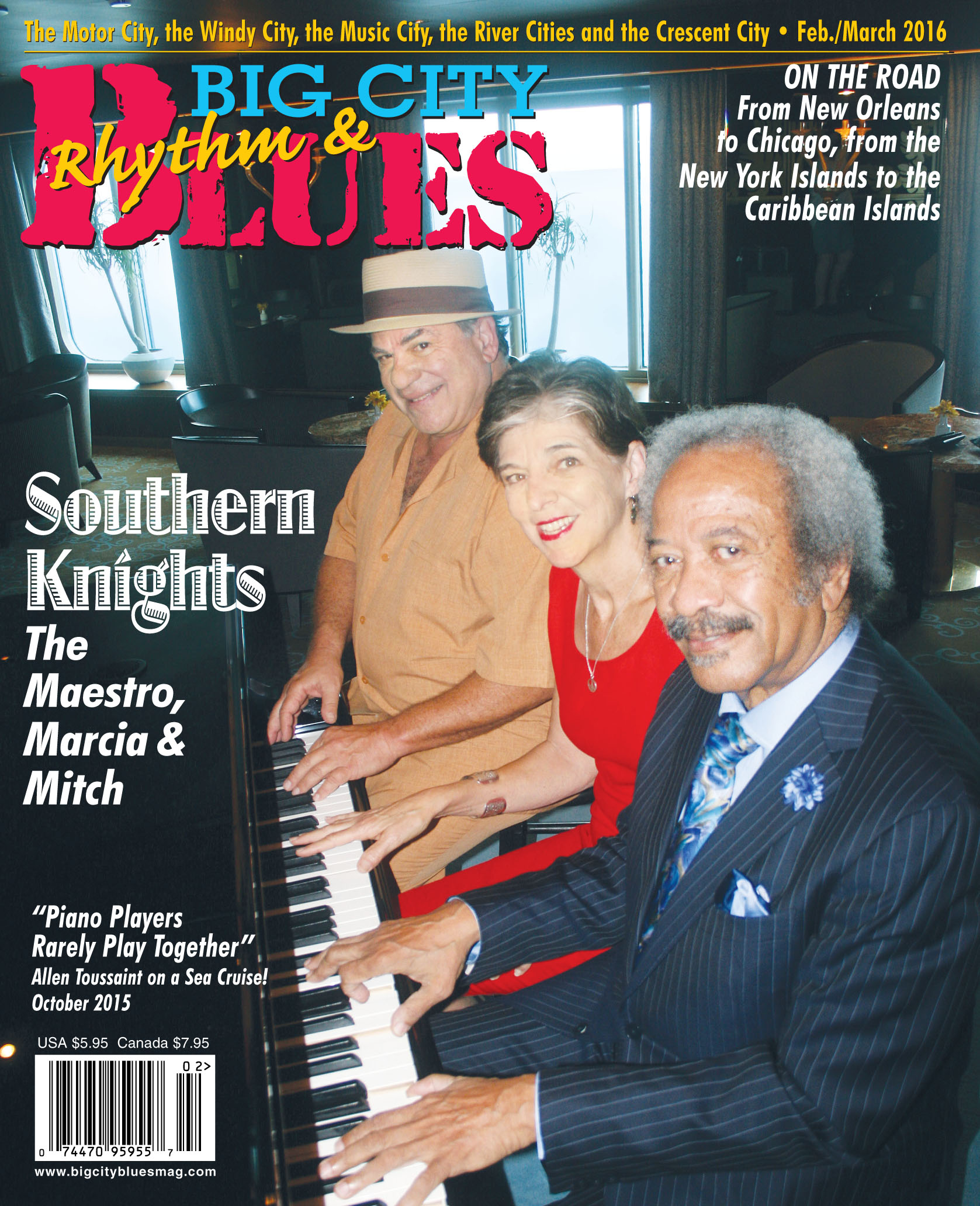 Big City Blues Magazine Cover Story | Mitch Woods & His